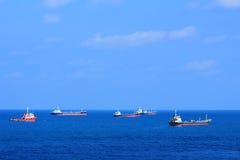 Στόλος των σκαφών στοκ εικόνα με δικαίωμα ελεύθερης χρήσης
