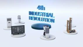 ` 4ο συνδέοντας όργανο ελέγχου ΒΙΟΜΗΧΑΝΙΚΏΝ ΕΠΑΝΑΣΤΆΣΕΩΝ `, μικρόκυμα, λάμπα φωτός, πλυντήριο, έξυπνες εγχώριες συσκευές, Διαδίκτ απεικόνιση αποθεμάτων