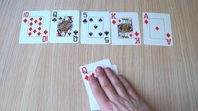 Ο συνδυασμός καρτών είναι βασιλική εκροή απόθεμα βίντεο