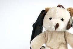 Ο σφιγκτήρας επικεφαλής στο teddy αντέχει το παιχνίδι Στοκ εικόνες με δικαίωμα ελεύθερης χρήσης
