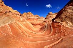 Ο σχηματισμός άμμου Ναβάχο κυμάτων στην Αριζόνα ΗΠΑ στοκ εικόνες