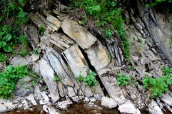Ο σχηματισμός βράχου που εκτέθηκε στη διάβρωση στοκ φωτογραφία με δικαίωμα ελεύθερης χρήσης