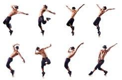 Ο σχισμένος χορευτής που απομονώνεται στο λευκό στοκ εικόνες
