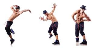 Ο σχισμένος χορευτής στο λευκό στοκ φωτογραφία με δικαίωμα ελεύθερης χρήσης