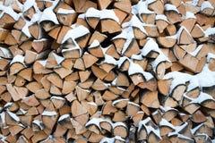 Ο σωρός του καυσόξυλου Στοκ εικόνα με δικαίωμα ελεύθερης χρήσης