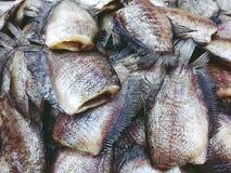 Ο σωρός των αποξηραμένων pectoralis Trichogaster ψαριών κλείνει επάνω στοκ εικόνες
