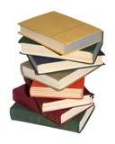 Ο σωρός των παλαιών βιβλίων απομόνωσε το λευκό Στοκ Εικόνες