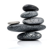 Ο σωρός Stones spa της σκηνής επεξεργασίας zen όπως τις έννοιες 13 όντας χτισμένη πόρτα τα δωρικά βγαίνοντας ελληνικά Δεκεμβρίου  Στοκ Εικόνες