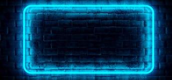 Ο σύγχρονος φουτουριστικός νέου σωλήνας ορθογωνίων λεσχών μπλε άναψε την κενή SP διανυσματική απεικόνιση