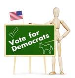 Ο ταραχοποιός ενθαρρύνει την ψηφοφορία για τους δημοκράτες στις αμερικανικές εκλογές στοκ φωτογραφία με δικαίωμα ελεύθερης χρήσης