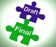 Ο τελικός γρίφος σχεδίων παρουσιάζει ότι γράψτε και ξαναγράψτε διανυσματική απεικόνιση