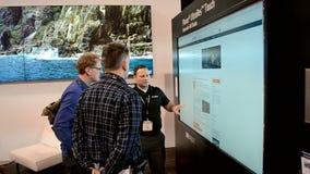 Ο τηλεοπτικός τοίχος υπολογιστών, NAB παρουσιάζει επίδειξη του 2014, απόθεμα βίντεο