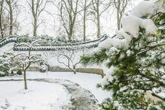 Ο τοίχος αψίδων μετά από το χιόνι Στοκ Φωτογραφίες