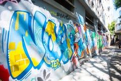 Ο τοίχος γκράφιτι Mongkok της φήμης βρίσκεται όχι μακριά από το στρεπτόκοκκο Argyle Στοκ φωτογραφία με δικαίωμα ελεύθερης χρήσης