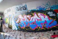 Ο τοίχος γκράφιτι Mongkok της φήμης βρίσκεται όχι μακριά από το στρεπτόκοκκο Argyle Στοκ Φωτογραφία