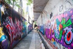Ο τοίχος γκράφιτι Mongkok της φήμης βρίσκεται όχι μακριά από το στρεπτόκοκκο Argyle Στοκ εικόνες με δικαίωμα ελεύθερης χρήσης