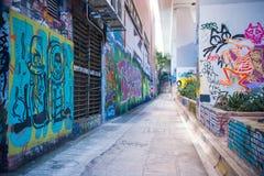 Ο τοίχος γκράφιτι Mongkok της φήμης βρίσκεται όχι μακριά από το στρεπτόκοκκο Argyle Στοκ Φωτογραφίες