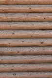 Ο τοίχος ενός ξύλινου σπιτιού από βαθμολογημένος στοκ φωτογραφίες