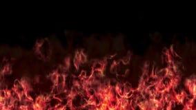 Ο τοίχος πυρκαγιάς κόλασης στο μαύρο υπόβαθρο τρισδιάστατο δίνει απεικόνιση αποθεμάτων