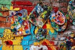 Ο τοίχος πόλεων στο χρώμα Στοκ εικόνα με δικαίωμα ελεύθερης χρήσης