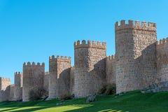 Ο τοίχος πόλεων Avila στην Ισπανία Στοκ Φωτογραφίες