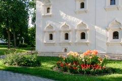 Ο τοίχος της κοινοτικής οικοδόμησης του μοναστηριού λυτρωτών του ST Euthymius, Ρωσία, Σούζνταλ Στοκ φωτογραφία με δικαίωμα ελεύθερης χρήσης
