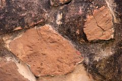 Ο τοίχος της φυσικής πέτρας Στοκ Φωτογραφίες