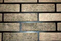Ο τοίχος του γκρίζου τούβλου είναι διακοσμητικός Στοκ Εικόνες