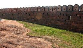Ο τοίχος του οχυρού Στοκ Εικόνες