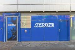 Ο τοίχος του AFAS ζει θέατρο παρουσιάζει στο Άμστερνταμ τις Κάτω Χώρες το 2018 στοκ φωτογραφίες