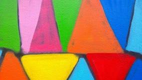 Ο τοίχος χρωμάτων γκράφιτι Στοκ Εικόνες