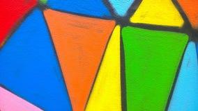 Ο τοίχος χρωμάτων γκράφιτι Στοκ φωτογραφία με δικαίωμα ελεύθερης χρήσης