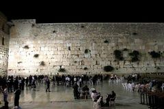 Ο τοίχος Wailing το βράδυ στοκ φωτογραφία με δικαίωμα ελεύθερης χρήσης