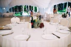 Ο τοποθετημένος γαμήλιος πίνακας στοκ φωτογραφίες