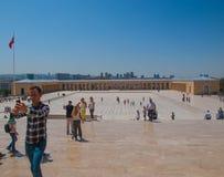Ο τουρίστας κάνει selfie σε Anitkabir, Άγκυρα, Τουρκία Στοκ Εικόνες
