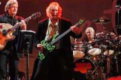 ο τραγουδιστής Jon Άντερσον και η πλατεία της Cris bassist ομαδοποιούν ναι στοκ φωτογραφία με δικαίωμα ελεύθερης χρήσης