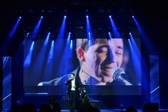 Ο τραγουδιστής Rodion Gazmanov που αποδίδει στη σκηνή κατά τη διάρκεια της μεγάλης μουσικής της Apple απονέμει τη συναυλία του 20 Στοκ φωτογραφίες με δικαίωμα ελεύθερης χρήσης