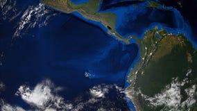 ο τρισδιάστατος πλανήτης Γη με μερικά σύννεφα, διαφορετικές ήπειροι, υπολογιστής που παράγεται δίνει το υπόβαθρο απεικόνιση αποθεμάτων