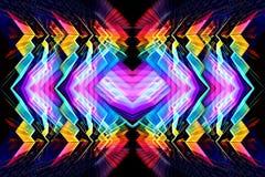 ο τρισδιάστατος υπολογιστής παρήγαγε το καλλιτεχνικό μοναδικό φωτεινό φουτουριστικό αφηρημένο πολύχρωμο fractal υπόβαθρο έργου τέ διανυσματική απεικόνιση