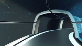 ο τρισδιάστατος υπολογιστής παρήγαγε το ταξίδι στη σήραγγα του διαστημοπλοίου, τρισδιάστατη απεικόνιση ελεύθερη απεικόνιση δικαιώματος
