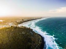 ο τρισδιάστατος ωκεανός δίνει το ηλιοβασίλεμα στοκ εικόνα με δικαίωμα ελεύθερης χρήσης