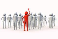 ο τρισδιάστατος άνθρωπο&sig Στοκ εικόνα με δικαίωμα ελεύθερης χρήσης