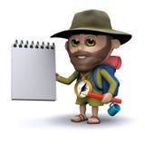 ο τρισδιάστατος εξερευνητής έχει ένα σημειωματάριο και ένα μολύβι απεικόνιση αποθεμάτων