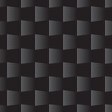 ο τρισδιάστατος τετραγωνικός άνευ ραφής Μαύρος σχεδίων απεικόνιση αποθεμάτων
