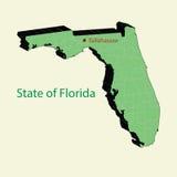 Ο τρισδιάστατος χάρτης του κράτους ΗΠΑ της Φλώριδας διανυσματική απεικόνιση