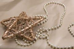 ο τρισδιάστατος χρυσός Χριστουγέννων hdr δίνει το αστέρι Στοκ Εικόνες