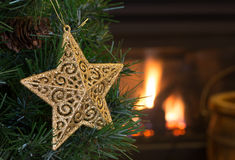 ο τρισδιάστατος χρυσός Χριστουγέννων hdr δίνει το αστέρι Στοκ φωτογραφίες με δικαίωμα ελεύθερης χρήσης