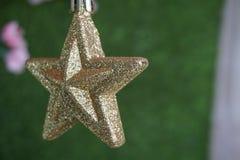 ο τρισδιάστατος χρυσός Χριστουγέννων hdr δίνει το αστέρι Στοκ Φωτογραφίες