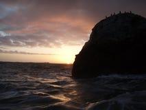 ο τρισδιάστατος ωκεανός δίνει το ηλιοβασίλεμα Στοκ Φωτογραφίες