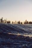 ο τρισδιάστατος ωκεανός δίνει το ηλιοβασίλεμα Στοκ φωτογραφίες με δικαίωμα ελεύθερης χρήσης